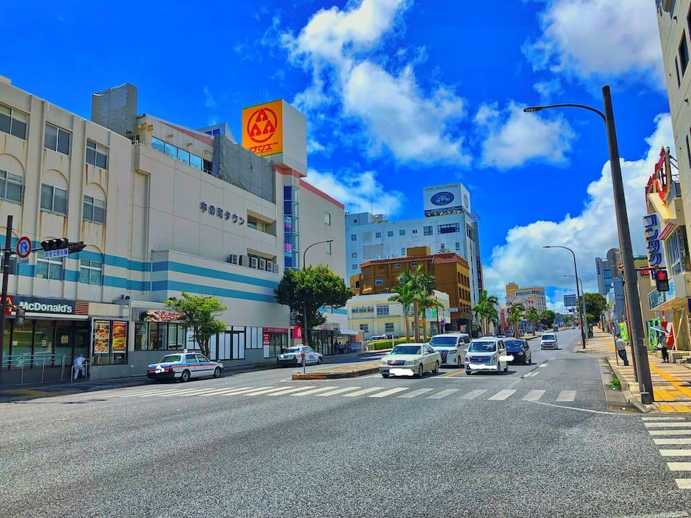 ギークハウス沖縄付近の風景