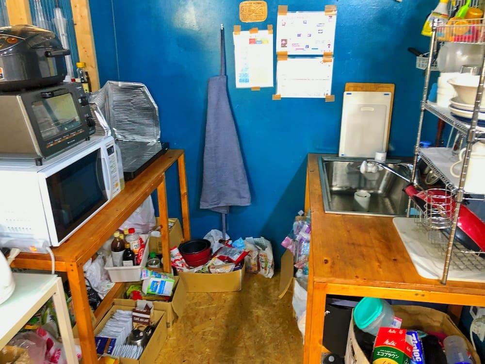 ギークハウス沖縄のキッチン